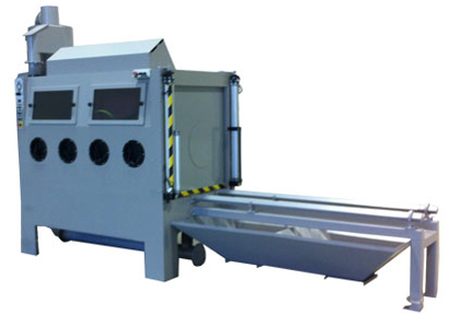 Sliding Table Pressure Blast Machine